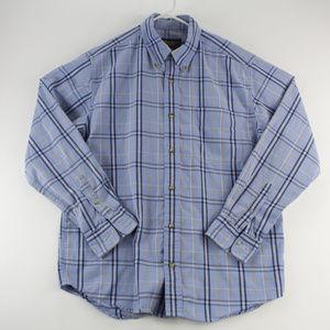 Eddie Bauer Mens Shirt Long Sleeve Realxed Fit